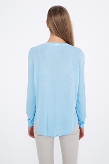 Silk and Cashmere Bluz Mavi